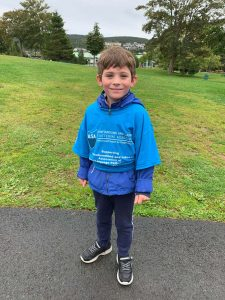 2019 Walk & Run: A young boy participates in the event