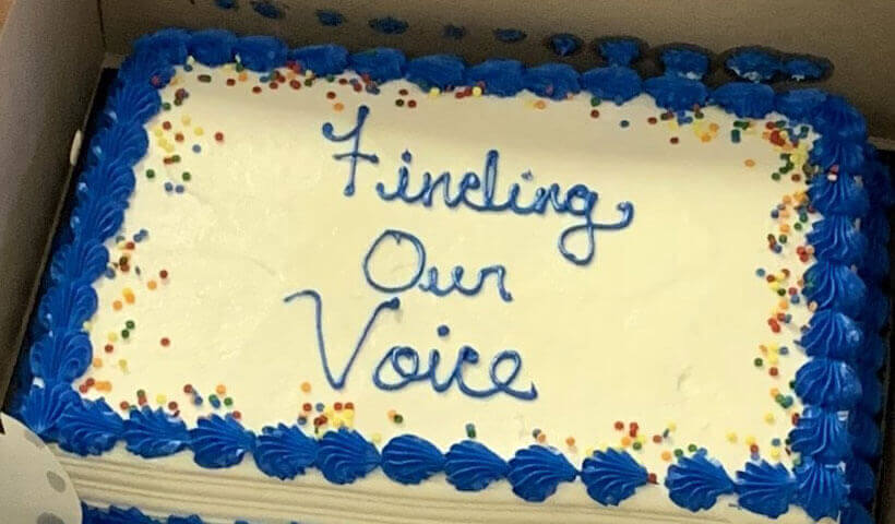 finding our voice cake